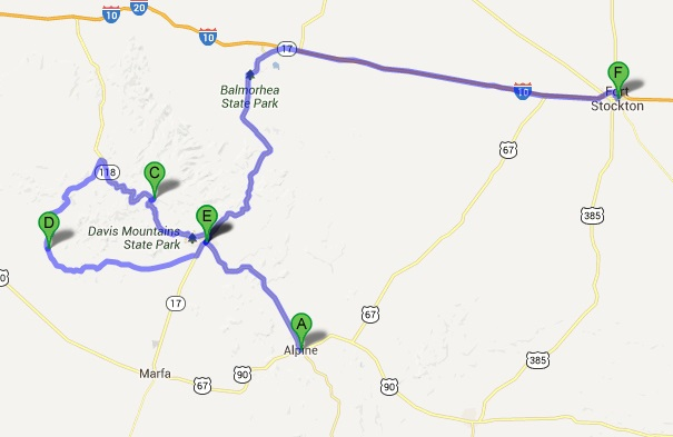 Big Bend, motorcycle, map, ride