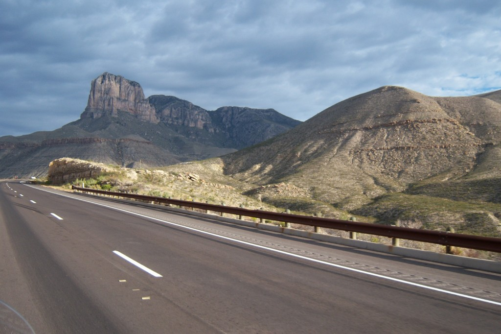 TX Hwy 54 from Van Horn to Guadalupe Mountains Nation Park.