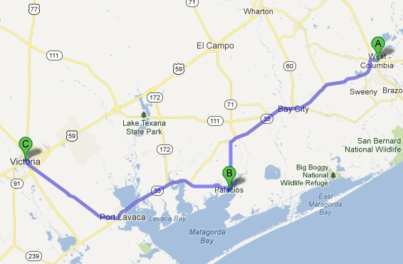 Map of Day 2 Ride Route