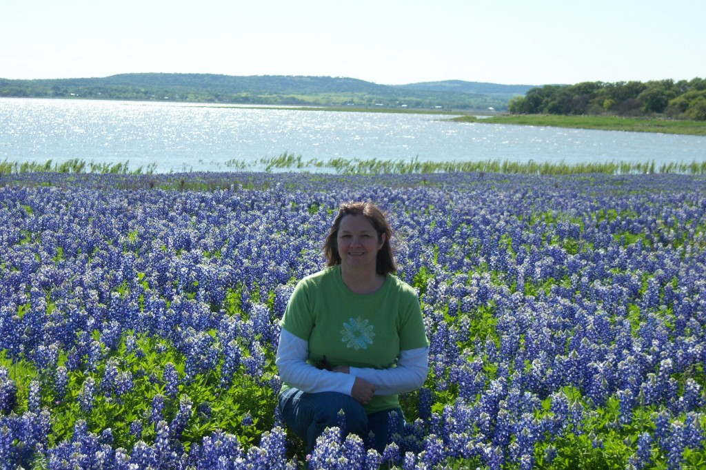 motorcycle, ride, Texas, Hill Country, Wildflowers, bluebonnets, lake, buchanan