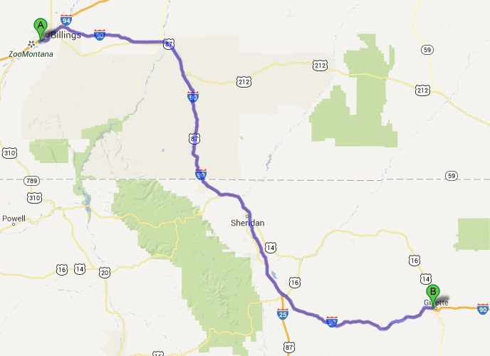 Billings, MT to Little Bighorn to Gillette, WY