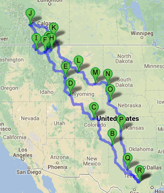 Planned Ride Map