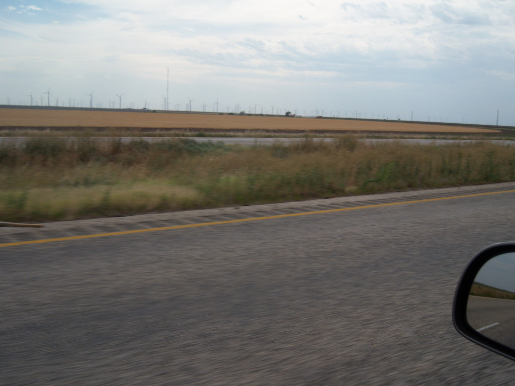 Wind turbines in the distance... Near Sweetwater, Texas