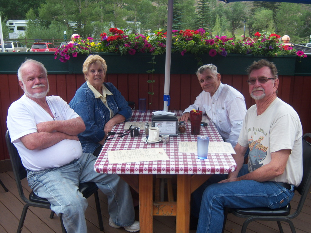 My old friend Jimmie and his wife Diann with Larry and me in Georgetown, Colorado