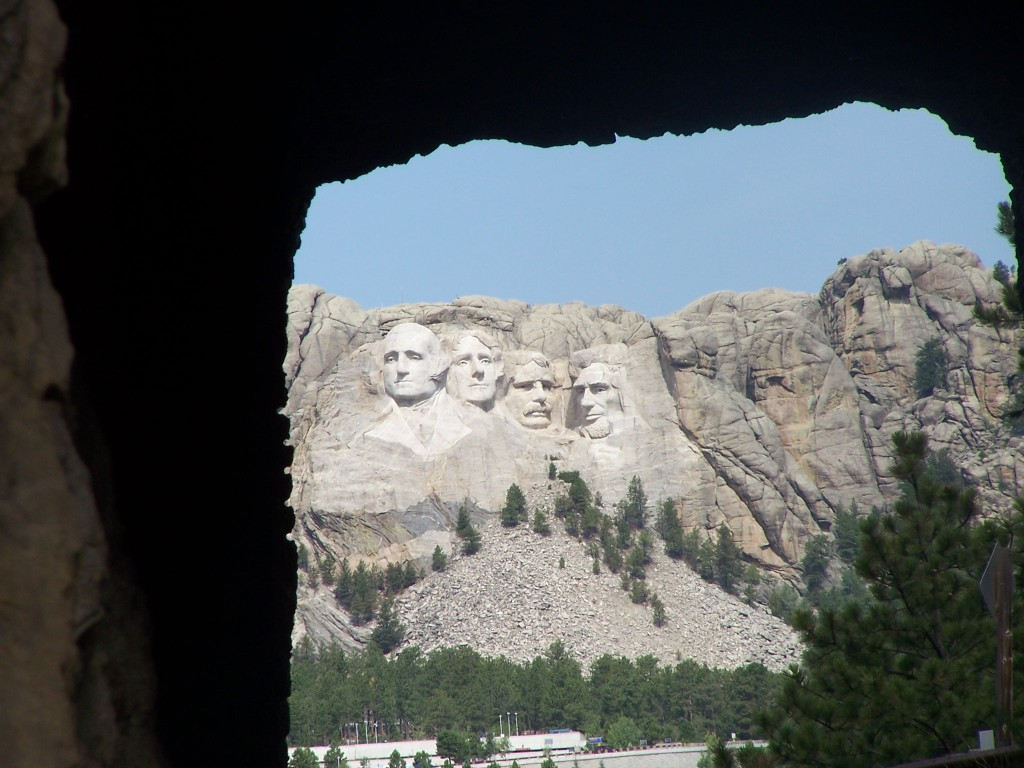 Mount Rushmore viewed tunnel on Iron Mountain Hwy
