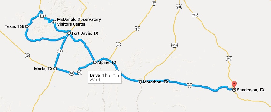 Big Bend National Park Motorcycle Ride Map Day 3