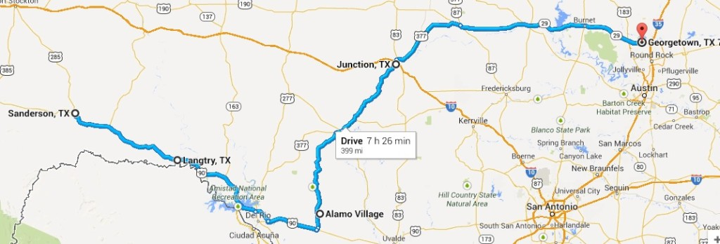 Big Bend Ride Map Day - 4