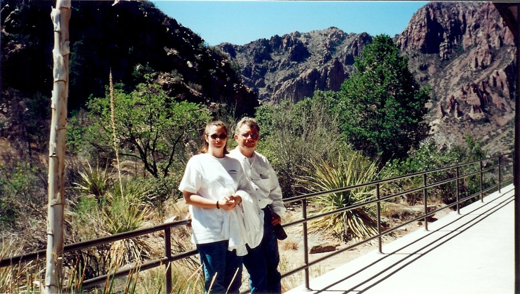 Janet and Me at Chisos Basin Lodge