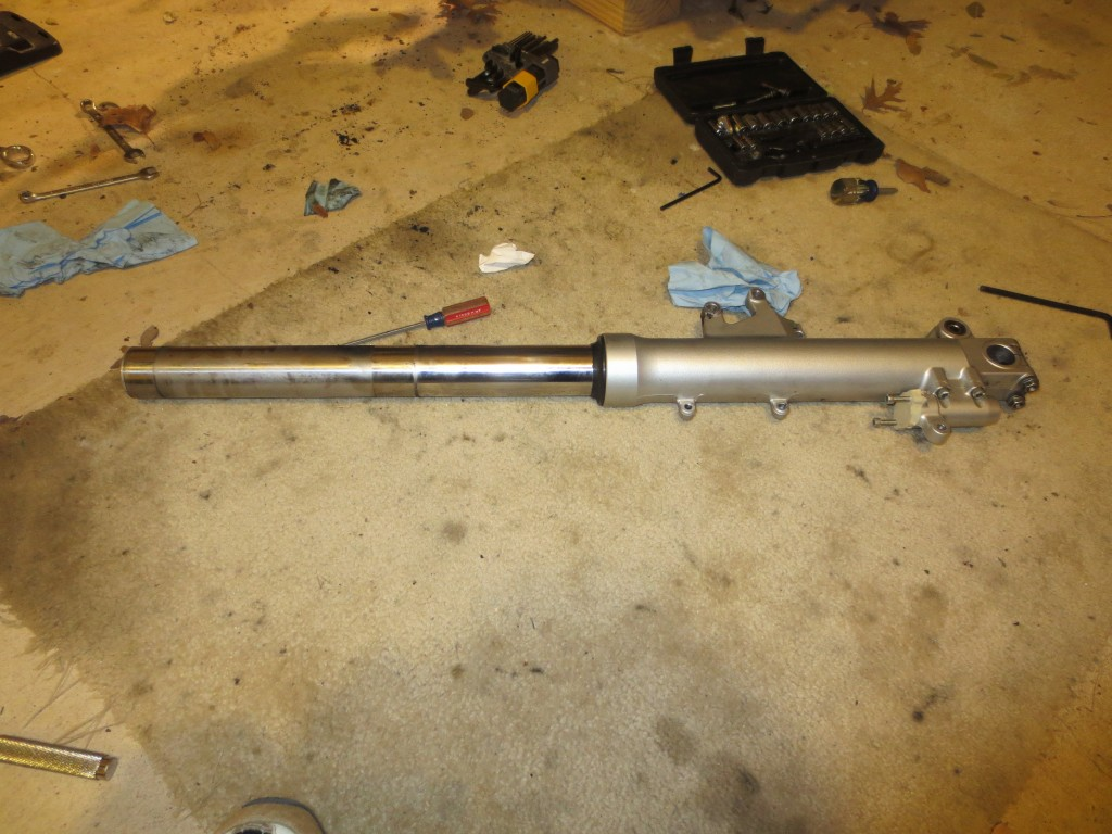 Honda Goldwing, left fork