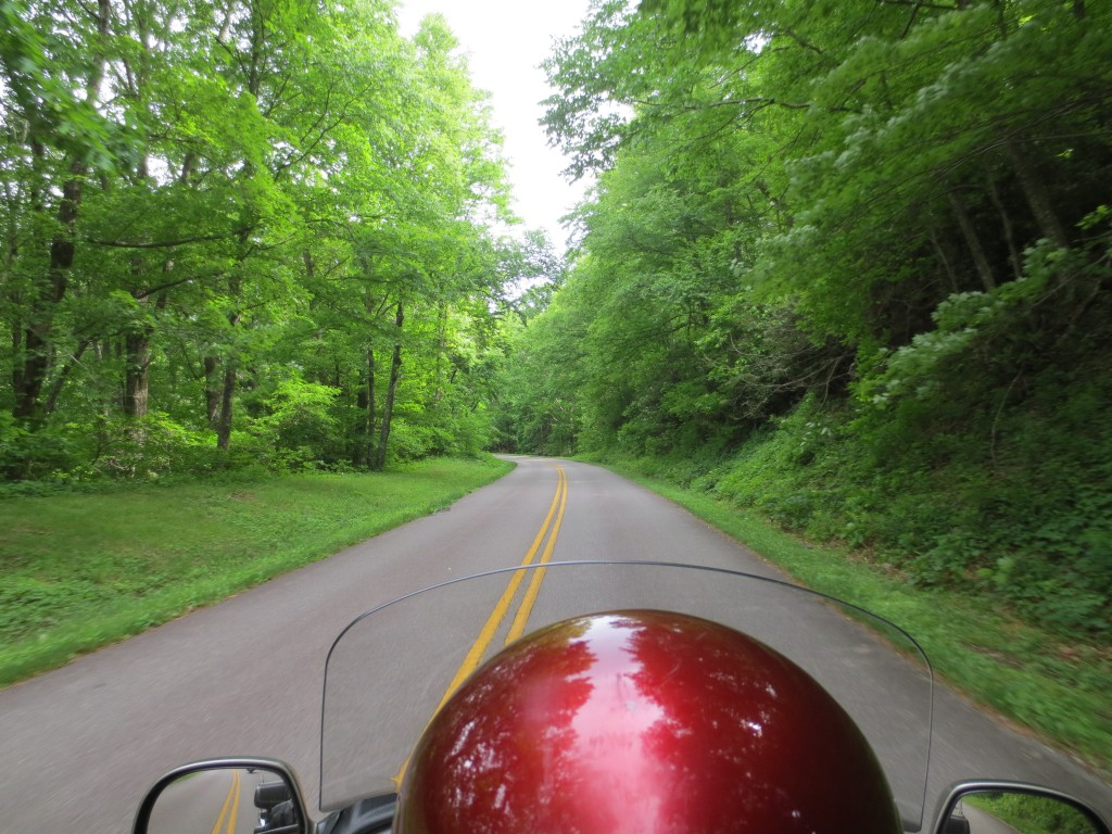 Rolling down the Blue Ridge Parkway