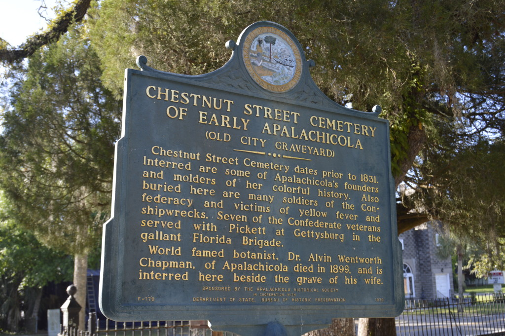 The Chestnut Cemetery , gulf coast small town, travel